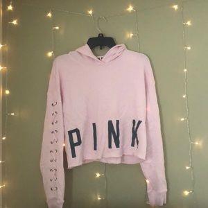Pink cropped hoodie!